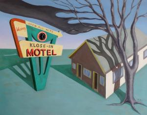 Sally Banfill Has Three Paintings Featured In The Motel Life Book Review